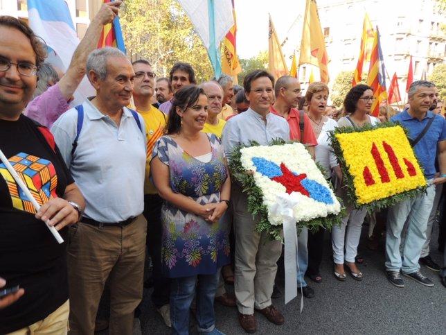 El BNG participa en la Diada, en Barcelona