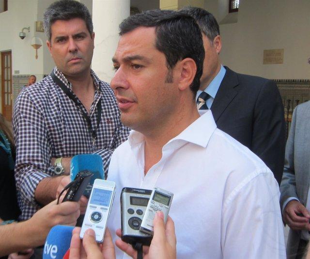 Juanma Moreno en el Parlamento andaluz