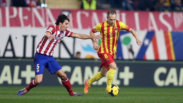 Andrés Iniesta Tiago Atlético de Madrid Barcelona Vicente Calderón
