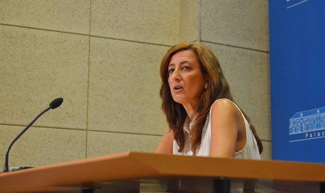 Trinidad Moreno en la rueda de prensa