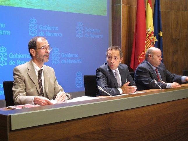 Carlos Erce, Juan Luis Sánchez de Muniáin y Nacho Calvo.