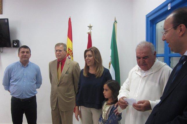 Susana Díaz durante su primer día del viaje a Marruecos