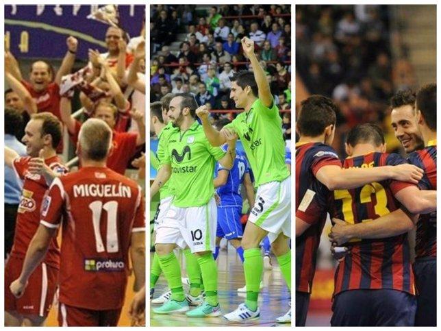 ElPozo, Inter y Barcelona, a por el título de la LNFS