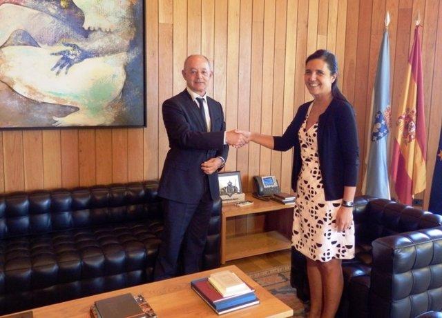 Pilar Rojo recibe ao presidente do Consello Consultivo de Galicia
