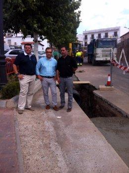 Visita a las obras del colector de aguas residuales de Baños de la Encina (Jaén)