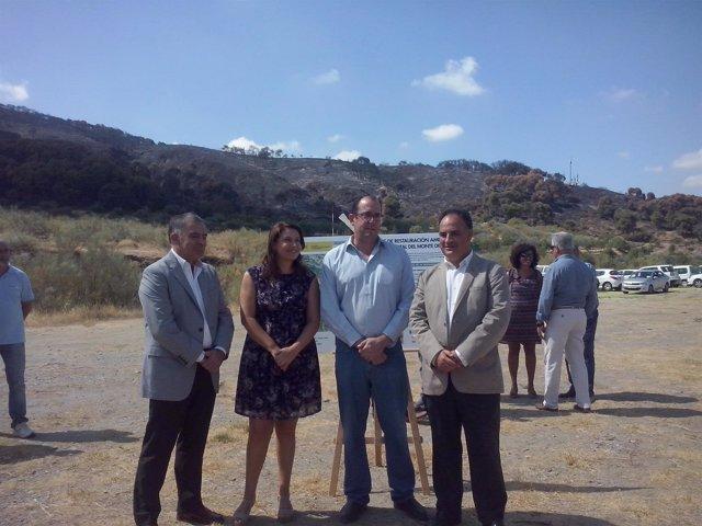 Visita a la zona afectada por un incendio en Cenes de la Vega