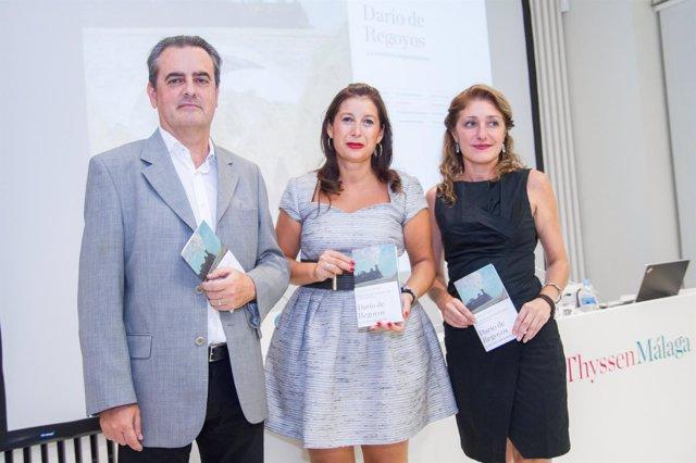 Juan Antonio Vigar, Gemma del Corral y Lourdes Moreno en el Museo Thyssen