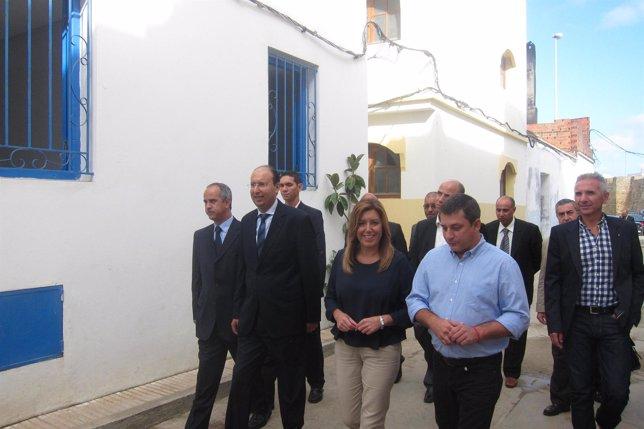 Susana Díaz, durante su visita a Marruecos