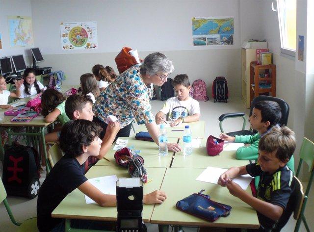 Ana González, en un colegio