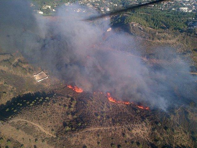 Incendio en Mijas 1 de agosto de 2014