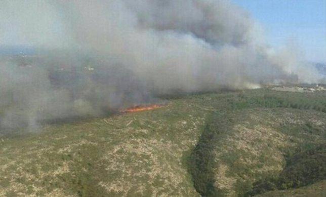 Incendio declarado en Jávea