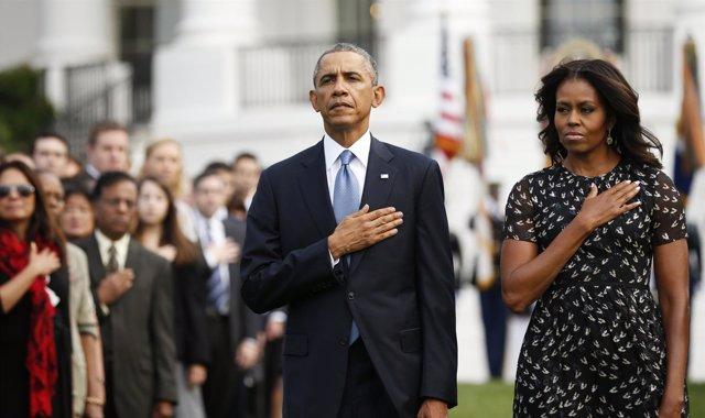 El presidente de EEUU, Barack Obama, y su mujer, Michelle