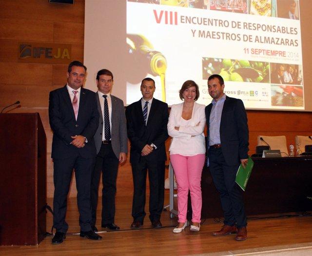 Inauguración del VIII Encuentro de responsables y maestros de almazaras