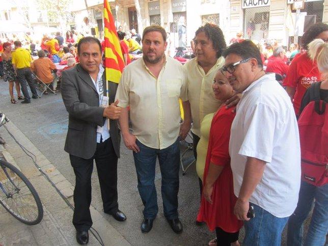 Oriol Junqueras en la Diada