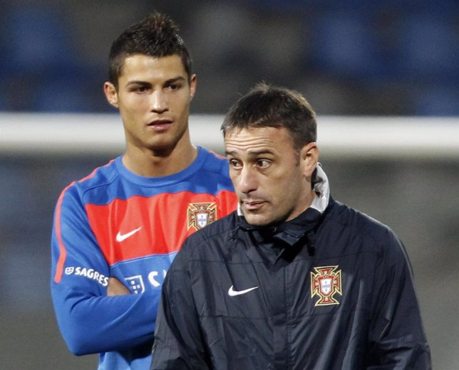 Paulo Bento Con Cristiano Ronaldo