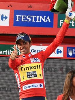 Alberto Contador, líder de la Vuelta a España