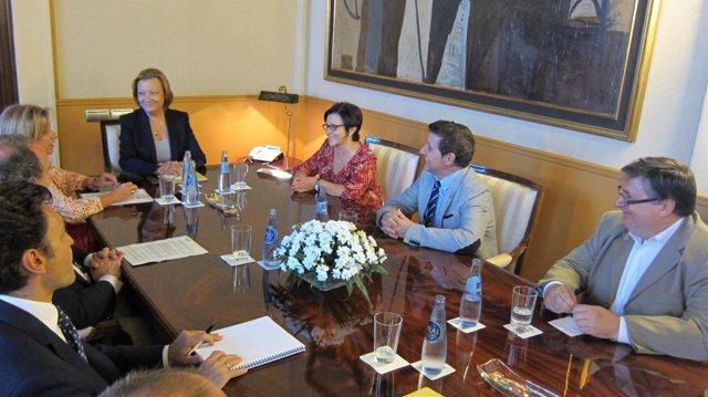 Rudi se reúne con los alcaldes de Peralta de Alcofea y Villanueva de Sijena