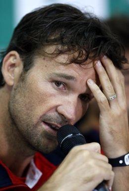 El capitán español de la Copa Davis Carlos Moya