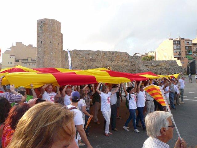 Acto de Societat Civil Catalana en Tarragona con motivo de la Diada