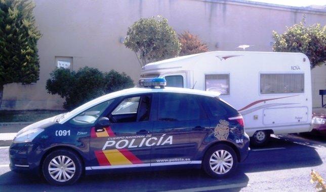 La caravana que fue el objeto del robo