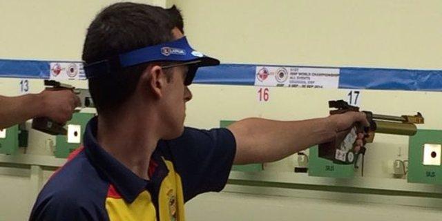 Joaquín Delgado roza la final de 10m. Pistola Aire Junior