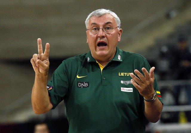 Jonas Kazlauskas, seleccionador nacional de baloncesto de Lituania
