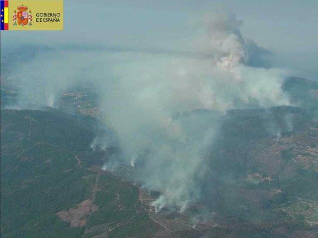 Incendio Oia (Pontevedra)