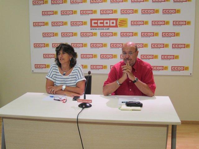 El secretario general de CC.OO. De Catalunya, Joan Carles Gallego