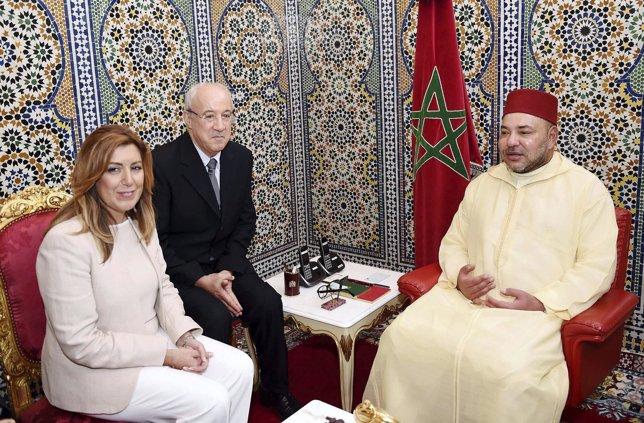 Susana Díaz y el Rey de Marruecos, Mohammed VI