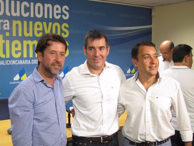 Clavijo, con Alonso y Bermúdez