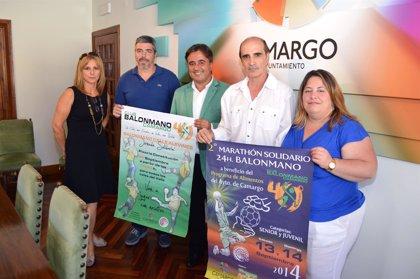 CANTABRIA.-Camargo.- El pabellón Pedro Velarde acoge este fin de semana el II Maratón Solidario '24 horas de Balonmano'