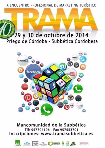 Priego acogerá en octubre Trama 2014, el X Encuentro Profesional de Marketing Turístico