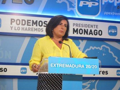 """El PP acusa a Vara de """"retorcer"""" las cifras de inversiones del Gobierno porque demuestran su """"pésima gestión"""""""