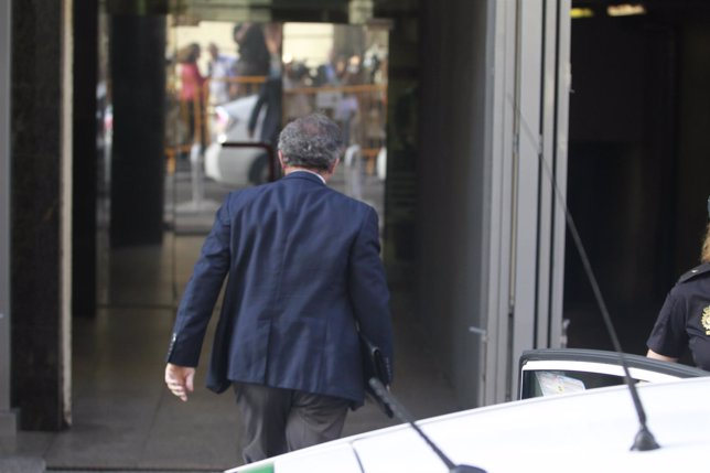 Jordi Pujol Ferrusola a su llegada a la Audiencia Nacional