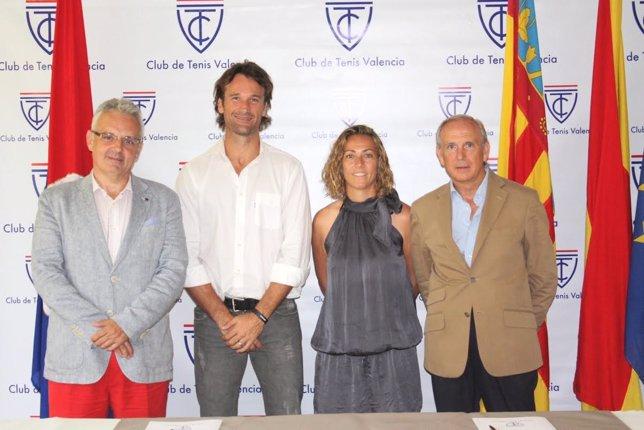 José Luis Escañuela, Gala León, Carlos Moyá y Ramiro Verdejo