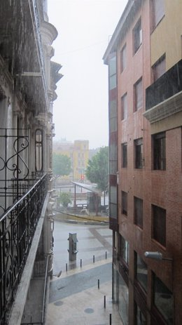 Intensas lluvias en Murcia