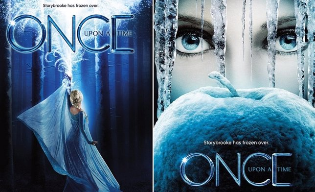 Elsa protagoniza dos nuevos carteles de Once Upon A Time