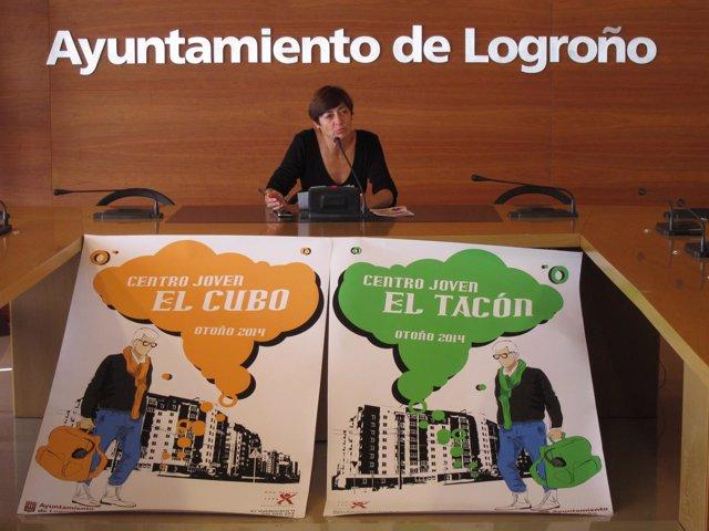Pilar Montes, en la rueda de prensa