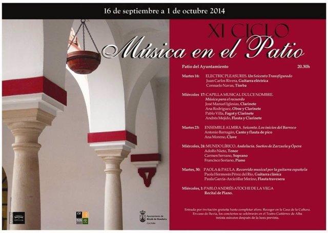 Programa de Música en el Patio de Alcalá de Guadaíra.