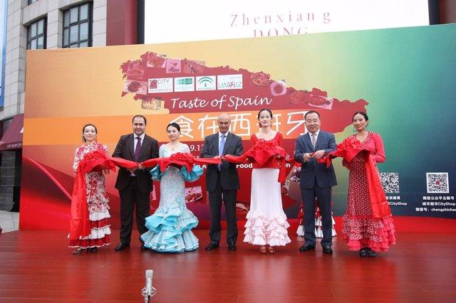 Presentación de una promoción agroalimentaria de Extenda en Shanghai
