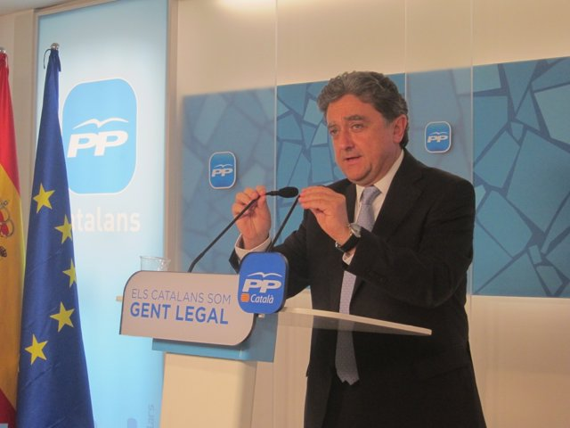 El portavoz del PP en el Parlament, Enric Millo