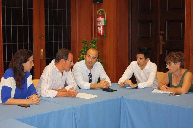Cámara y los portavoces Fuentes, López, Herguedas y Serna