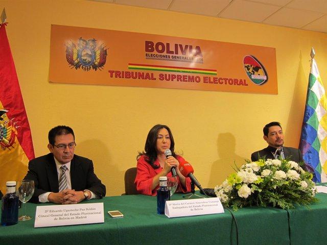 Presentación de los preparativos del TSE para las elecciones bolivianas