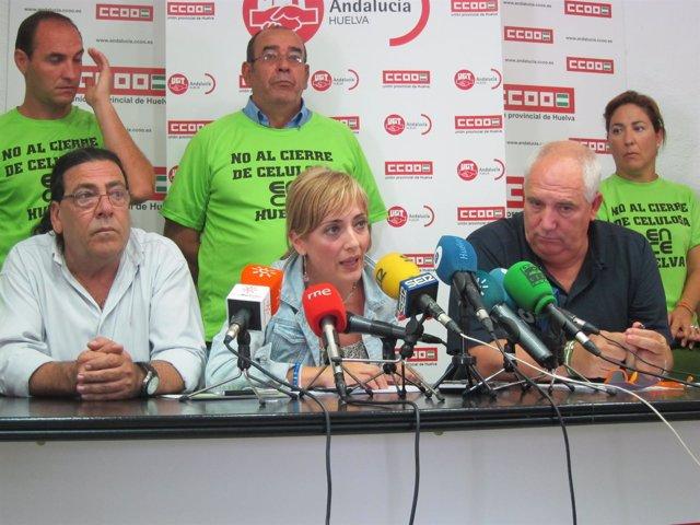 La secretaria general de UGT-A, Carmen Castilla, junto a Carbonero.