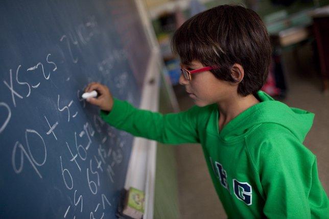 Imagen de recurso de un alumno en clase