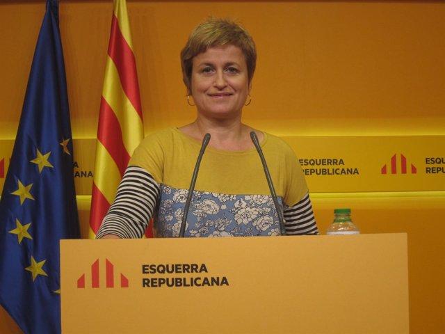 Anna Simó (ERC) en rueda de prensa este lunes