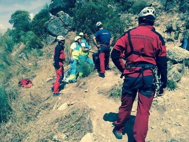 Rescate de una escaladora