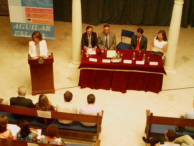 Gómez interviene en el acto inaugural