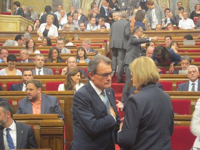 Pte.Generalitat Artur Mas, pta.Parlament Núria de Gispert