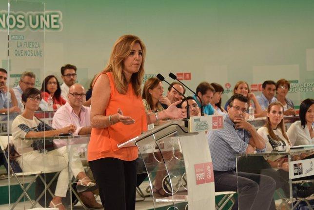 Susana Díaz, en el Comité Director del PSOE-A